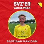 SVZ'er van de week: Bastiaan van Dam uit de JO16