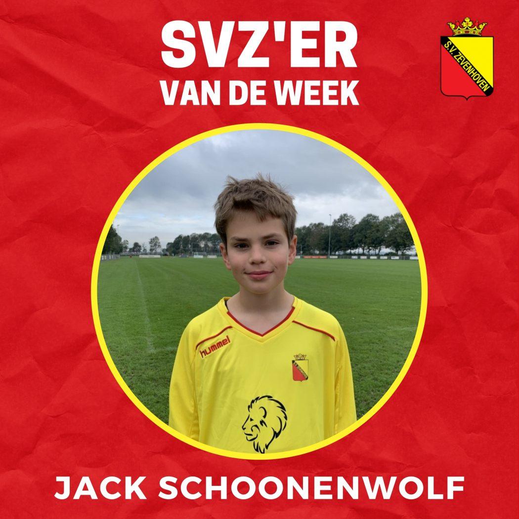 SVZ'er van de week: Jack Schoonenwolf uit de JO16