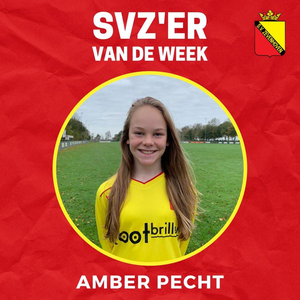SVZ'er van de week: Amber Pecht uit de MO15