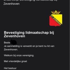 Welkomstmail Zevenhoven