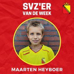 SVZ'er van de week: Maarten Heyboer uit de JO13
