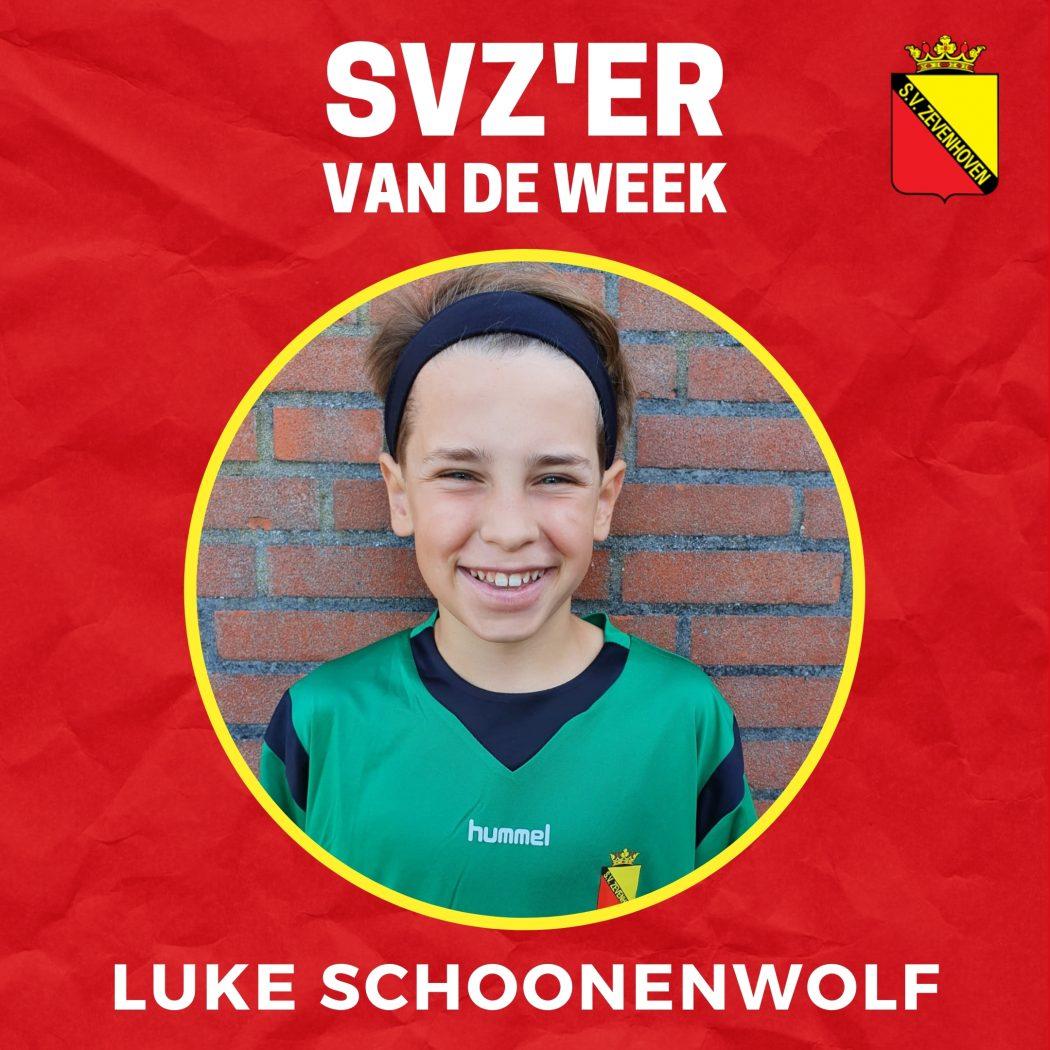 SVZ'er van de week: Luke Schoonenwolf uit de JO13