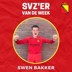 SVZ'er van de week: Swen Bakker uit de JO16