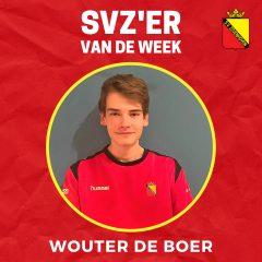 SVZ'er van de week: Wouter de Boer uit de JO18