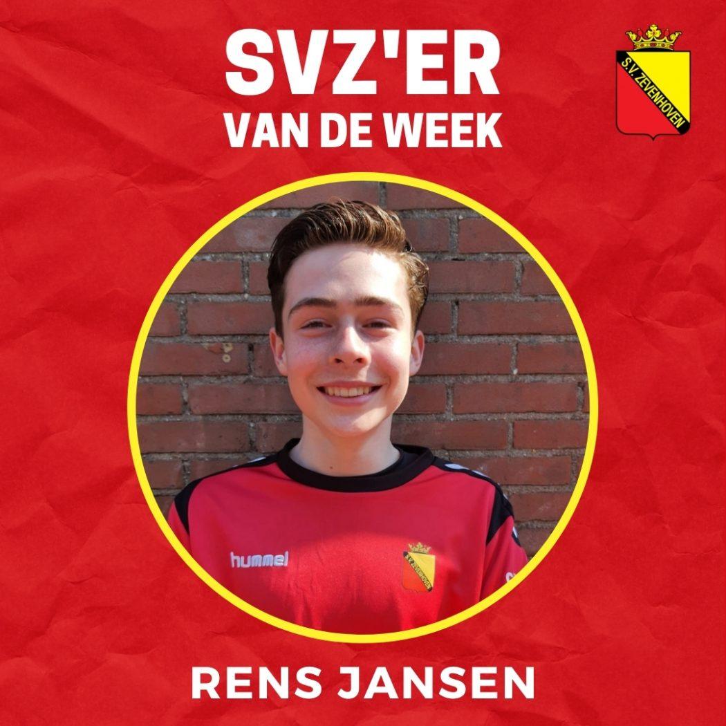 SVZ'er van de week: Rens Jansen uit de JO16