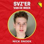 SVZ'er van de week: Nick Snoek uit de JO18
