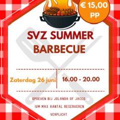 SVZ Summer Barbecue op zaterdag 26 juni
