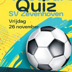 Voetbalquiz SV Zevenhoven op vrijdag 26 november